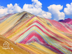 کوه های آلاداغ لار زنجان، رنگین کمان خاکی+عکس